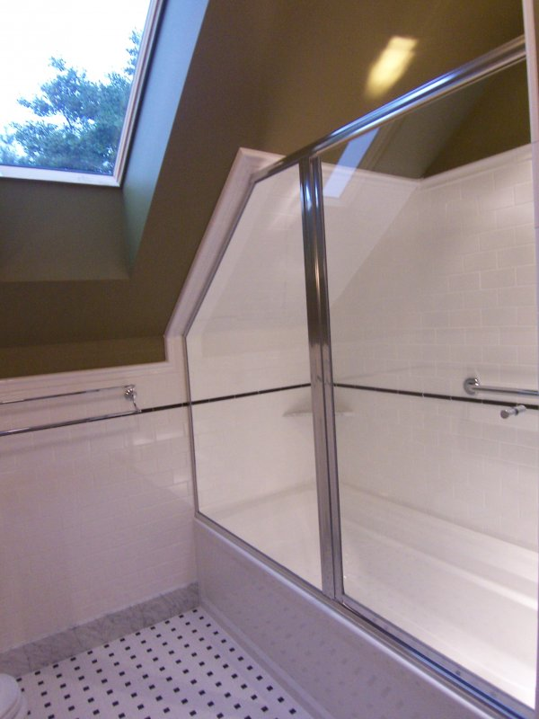 Attic bath alexander construction services for Fully enclosed shower