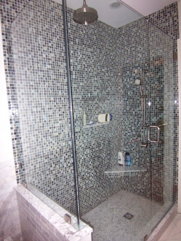 Master Bath with Glass Tile » Alexander Construction Services
